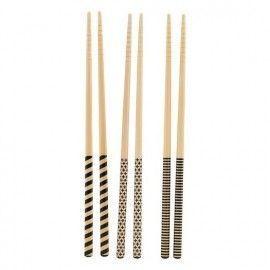 Set de 6 pares de palillos sushi.