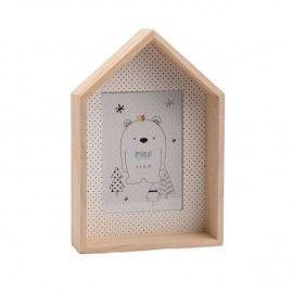 Marco infantil casita de madera.