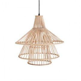 Lámpara de techo bambú.