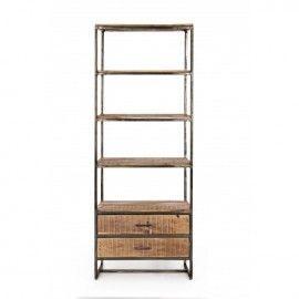 Estantería de madera de acacia. 73x35x190 cm.
