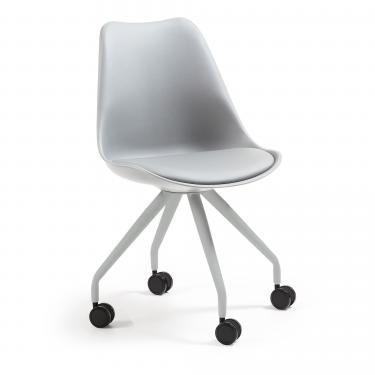 LARS Silla escritorio metal gris plástico gris - Imagen 1
