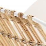 ISNAIA Silla metal blanco ratán tela - Imagen 5