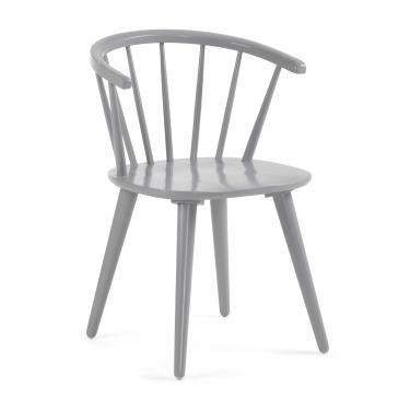 KRISE Silla madera gris claro - Imagen 1