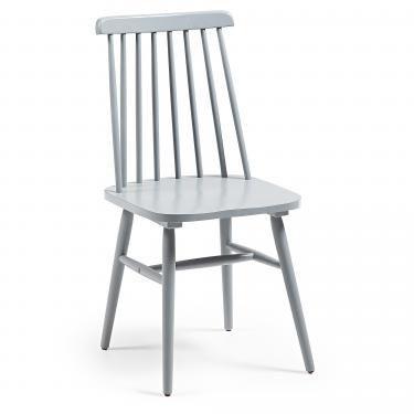 KRISTIE Silla madera gris claro - Imagen 1
