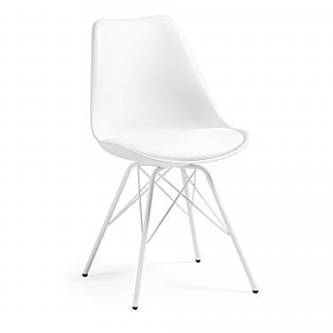 LARS Silla metal blanco plástico blanco - Imagen 1