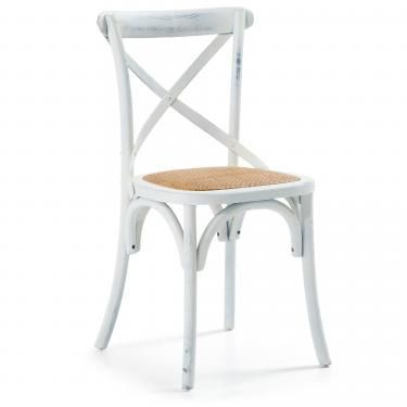 SILEA Silla madera blanco - Imagen 1