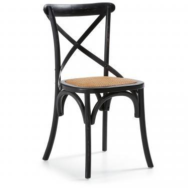 SILEA Silla madera negra - Imagen 1