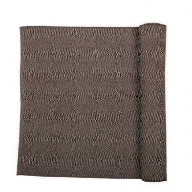 camino de mesa zigzag marrón