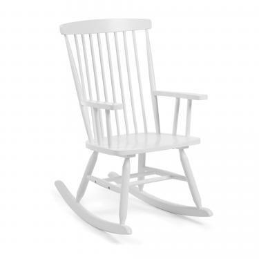 TERENCE Mecedora madera blanco - Imagen 1