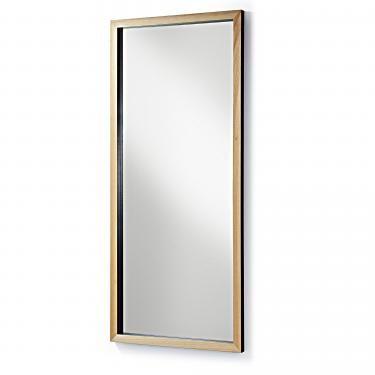 DROP Espejo 78x178 marco madera negro - Imagen 1
