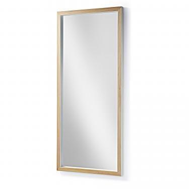 DROP Espejo 78x178 marco madera blanco - Imagen 1