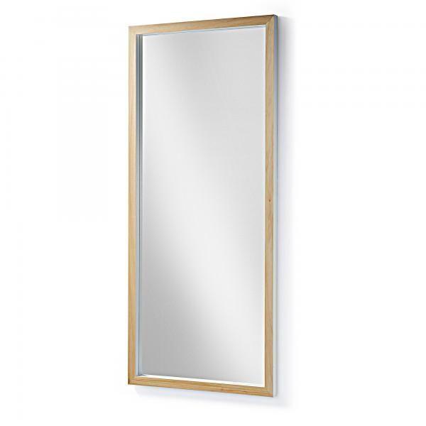 Drop espejo 78x178 marco madera blanco for Espejos con marco de madera blanco