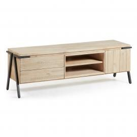 DISSET Mueble Tv 165x53 metal, acacia natural