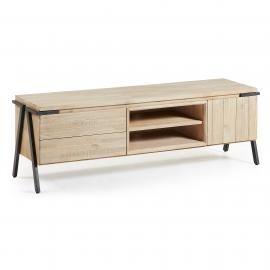 DISSET Mueble Tv 165x53 metal, acacia natural