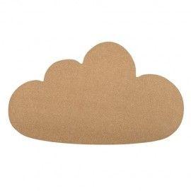 Corcho para pared con forma de nube.