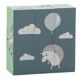 Juego de cubos madera ilustraciones Circo