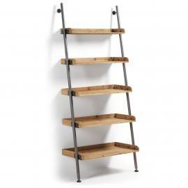 BELAMO Estantería 86x200 metal gris, madera