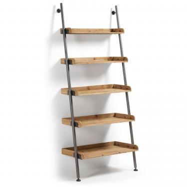 BELAMO Estantería 86x200 metal gris, madera - Imagen 1