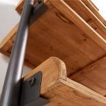 BELAMO Estantería 86x200 metal gris, madera - Imagen 5