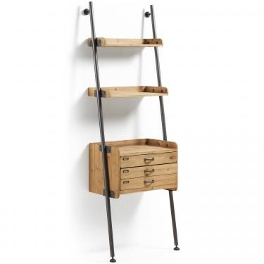BELAMO Estantería 67x200 metal gris, madera - Imagen 1