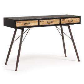 FREE Consola 120x40 madera negra, natural
