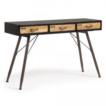 FREE Consola 120x40 madera negra, natural - Imagen 1
