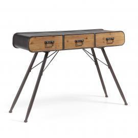 HELIA Consola 120x75 metal gris, madera