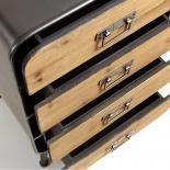 HELIA Cómoda 48x83 metal gris, madera - Imagen 3