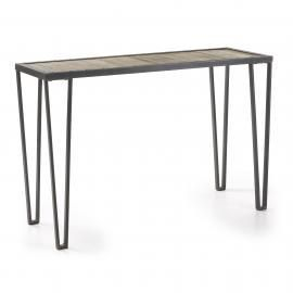 ROTCIP Consola Estr.hierro gris Sobre madera Natural