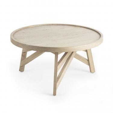 THAIS Mesa centro madera mindi gris - Imagen 1