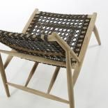 UNIKA Sillón madera teca gris oscuro - Imagen 4