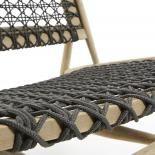 UNIKA Sillón madera teca gris oscuro - Imagen 5