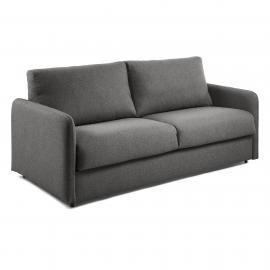 KOMOON Sofá cama 140 colchón visco, grafito