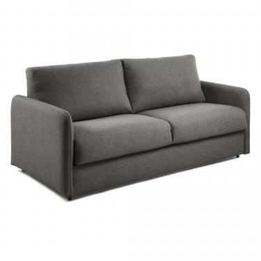 KOMOON Sofá cama 140 colchón visco, grafito - Imagen 1