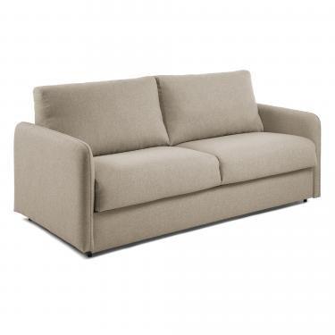 KOMOON Sofá cama 140 colchón visco, beige - Imagen 1