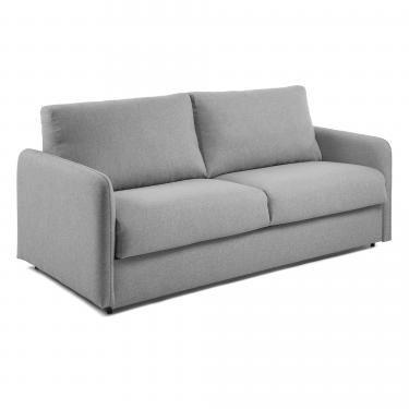 KOMOON Sofá cama 160 colchón visco, gris claro - Imagen 1