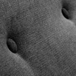 OPAL Sofá 3 plazas pies madera tela gris oscuro - Imagen 5