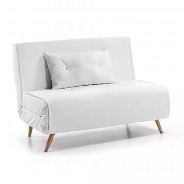 TUPANA Sofá cama 100 Pu blanco - Imagen 1