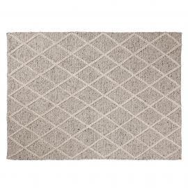 ARA Alfombra lana 160x230 gris claro