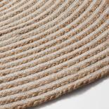 SAMY Alfombra yute redonda 150 natural blanco - Imagen 2