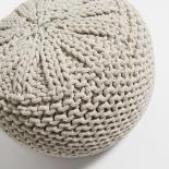 SHORE Puf algodón white - Imagen 2