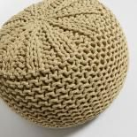 SHORE Puf algodón Mostaza - Imagen 2
