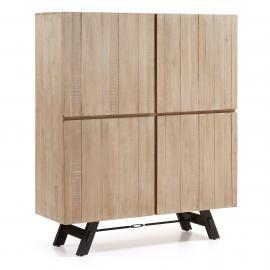 VITA Aparador madera acacia natural. 120x40x140 cm.