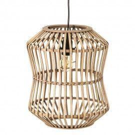 Lámpara de bambú natural.