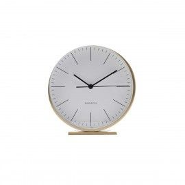 Reloj despertador dorado.