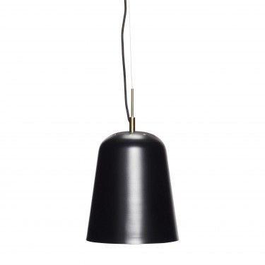 Lámpara de techo negra.