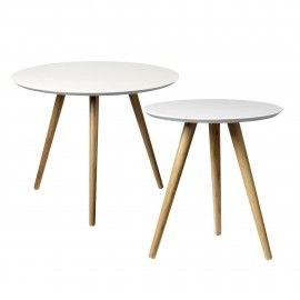 Mesa auxiliar de bambú. Dos tamaños.