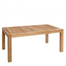 Mesa de comedor en madera de teca.