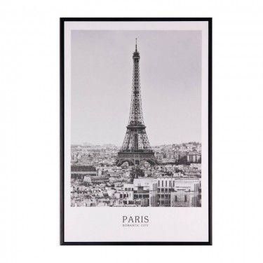 ilustración en blanco y negro de la Torre Eiffel.