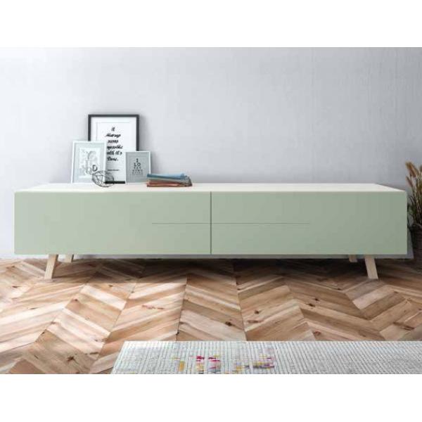 Mueble Tv De Estilo Nordico Fabricado De Madera